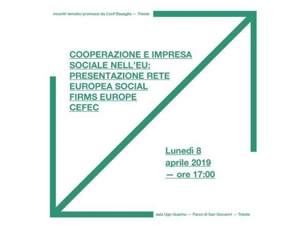 Cooperazione e Impresa sociale nell'EU – Presentazione Rete Europea Social Firms Europe CEFEC / aprile 2019