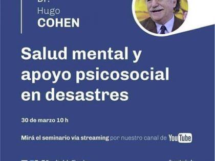 La lezione magistrale di Hugo Cohen su salute mentale e appoggio psicosociale nelle emergenze