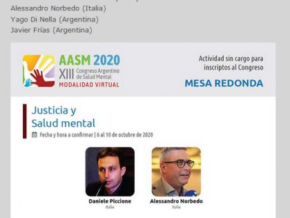 XIII Congreso Argentino de Salud Mental – Tavola rotonda Justicia y Salud mental