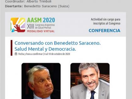 XIII Congreso Argentino de Salud Mental – Conferenza Salud Mental y Democracia