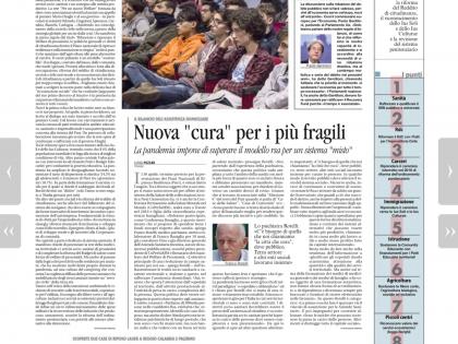 """Intervista a Franco Rotelli per Avvenire sulla partecipazione di ConF.Basaglia al Manifesto di """"Per un nuovo Welfare"""""""