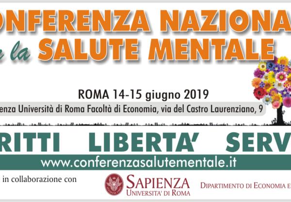 Conferenza nazionale per la salute mentale / Roma, giugno 2019