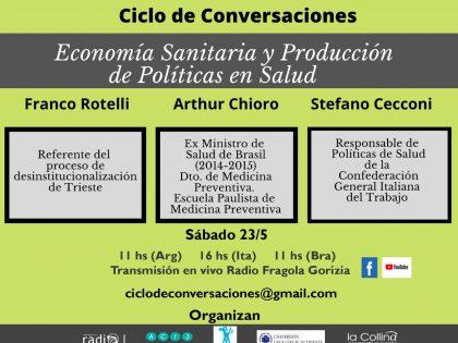"""Il secondo Ciclo de conversaciones """"Economía Sanitaria y producción de políticas en Salud"""""""