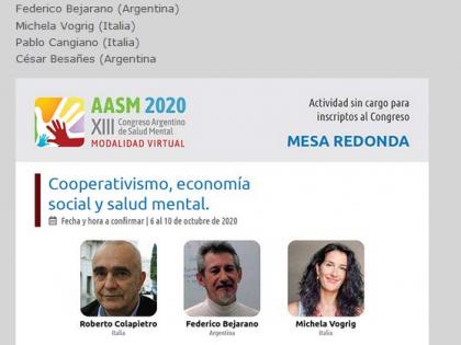 XIII Congreso Argentino de Salud Mental – Tavola rotonda Cooperativismo, economía social y salud mental